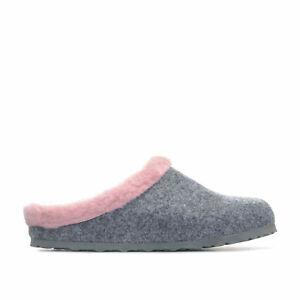 Womens Birkenstock Kaprun Narrow Width Slip On Clogs In Grey and Pink