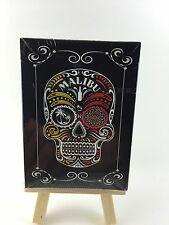 2 Decks MIP Day Of The Dead Malibu rum playing card New Skull Halloween LOT
