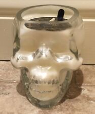 Dw Home Pumpkin Rum Clear Glass Skull Candle The Macabre Halloween