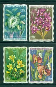British Honduras Scott #226-229 MVLH Flowers Orchids FLORA CV$5+