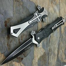TAC-FORCE Cross Style Spring Assisted Survival Camping Rescue Pocket Knife
