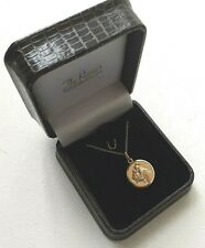 More details for st anthony - 9 ct gold  medal with 18