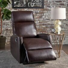 Sophie Tufted Brown Leather Power Recliner
