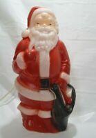 "Vintage Empire Plastics 13.5""  Blow Mold Light Up Santa Christmas 1968 Holiday"