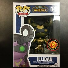Funko POP Asia World of Warcraft Illidan Gold Exclusive - Mint Box