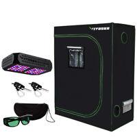 "VIVOSUN 300W LED Grow Light Tent Kit w/ Grow Room Glasses & 1/8"" Rope Hangers"