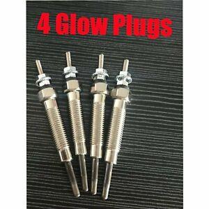4 Glow Plugs Fit Mitsubishi Triton MK L200  K77T 1996-2006 2.8L 4M40 4M40T
