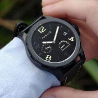 44mm PARNIS Black dial Gangreserve-Anzeige Automatic Mechanisch Uhr mens Watch