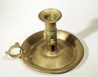 Antique Brass Chamberstick Push-up Candlestick Candle Holder