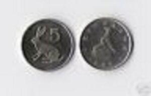 ZIMBABWE 5 CENTS KM2 1997 BIRD RABBIT UNC ANIMAL RHODESIA MONEY AFRICAN COIN