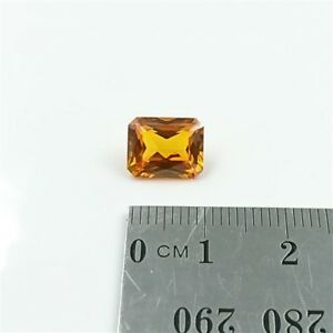 NATURAL CITRINE 10x8mm Emerald Cut Citrine Loose Gemstone – Free Post