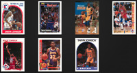 Earvin Magic Johnson Los Angeles Lakers Lot of 7 Basketball Cards 80s 90s VTG