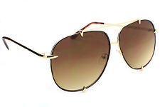 Designer Inspired Oversized Aviator Sunglasses Metal Frame  Women Fashion Talon