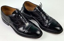 Johnston and Murphy Mens Oxford Shoes Size 8 D Medium Width Black Cap Toe