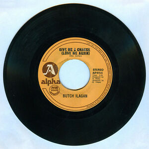 Philippines BUTCH ILAGAN Give Me A Chance (Love Me Again) OPM 45 rpm Record