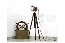 Copper Vintage Retro Hollywood Nautical Lamp Search Spot Light Tripod Spotlight