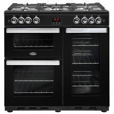 Belling Cookcentre 90G Black 90cm Gas Range Cooker 5 Burners 444444077 - NEW