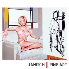 "MEL RAMOS ""Tea at 5 PM"" Wesselmann & Mondrian, handsignierte Wandskulptur, 2008!"