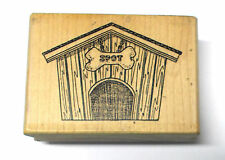 Rubbernecker Stamp Company Doghouse rubber stamp Spot bone Dogs pets houses