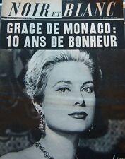 GRACE KELLY MONACO en COUVERTURE de NOIR et BLANC DE 1966 STROYBERG VADIM