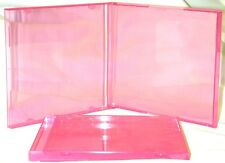 (200) CDBS10TP Transparent Pink Colored New CD Jewel Boxes Cases Empty RARE NEW
