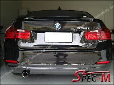 BMW F30 328i 335i 4Dr Performance Trunk Lip Spoiler w/ Painted 668 Jet Black