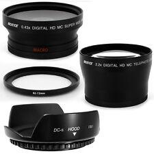 62mm Hood,Wide Angle,Telephoto Lens for Olympus E-10 E-620 E-600 E-450 E-520 E30