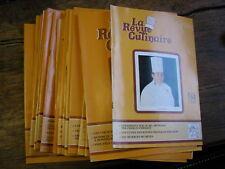 lot de 19 revues La revue culinaire