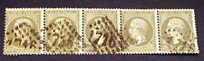 timbre france, n°19, 1c vert empire, Obl, cote 375e Tb bande Tb choix et qualité
