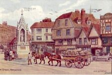 HIGH STREET KENT MAIDSTONE ENGLAND FROM WATERCOLOR BY A.R. QUINTON 1924