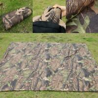 Camo Waterproof Mat Camping Hiking Tent Canvas Canopy Awning Shelter Rain Cover