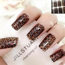 Sparkly LEOPARD Gradient Nail Art Wrap Full Cover Stickers  #06163 FREE P&P