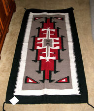 "Large Throw Rug Southwestern Western 32""x 64""  Woven Wool Tapestry #307"