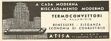 Y2472 Termoconvettori A.T.I.S.A. - Pubblicità del 1942 - Old advertising