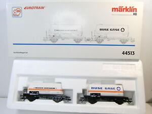"""Märklin H0 44513 Gas-Kesselwagen-Set """"Buse Gase/Messer Griesheim"""" NEU, OVP #3749"""