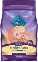 Blue Buffalo Healthy Aging Natural Mature Dry Cat Food, Chicken & Brown Rice 3-l