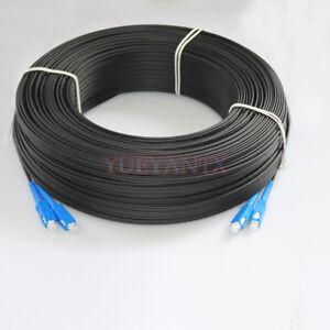 100M Outdoor SC SM Duplex FTTH Drop Patch Cord SC G657 Fiber Optic Cable Jumper
