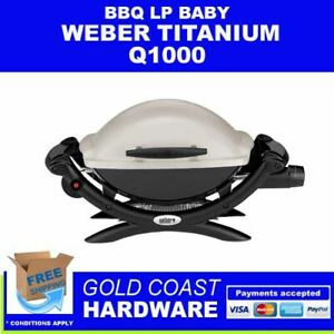 Weber Q1000 BBQ Baby Barbecue Portable LPG Gas Cast Iron Split Grill WeberQ