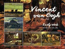 Grenadines Grenada 2015 MNH Vincent van Gogh Early Work 5v M/S Still Life Birds