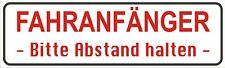Magnetfolie Magnetschild  Fahranfänger Bitte Abstand halten  für KFZ  20 x 6 cm