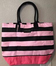 Victoria's Secret Tote - Pink And Black Striped - NWT