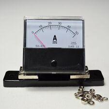DC 0-50A Meter + Shunt Analog Amp Panel Meter Current Ammeter