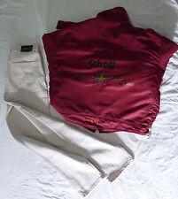 Giubbotto Schott rosso e Pantaloni bianchi Schott tg. 50, ottimo stato