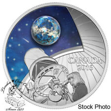 Canada 2016 $20 The Universe Glow In The Dark Glass with Opal Silver Coin