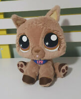 LITTLEST PET SHOP PLUSH TOY DOG LPS BROWN HASBRO VIP 22CM