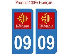 Autocollant Stickers plaque d'immatriculation DEPARTEMENT 09 OCCITANIE
