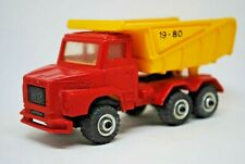 Rare 1980 PLAY TRUCKS SCANIA 140 Super T-CAB Truck w/ Tipper Body Made in GREECE