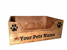Personalised Wooden Pet Bed Crate (Large) Cats Dogs