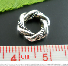 5 celtic knot charm charms bead bracelet bangle braid silver pd european ring