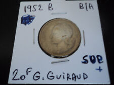 20 francs bronze alu G.Guiraud de 1952B   (n2)